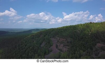 Aerial view of the Blue Ridge Mountains in Nantahala...