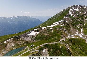 Caucasus mountains in summer