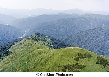 Caucasus mountains in summer