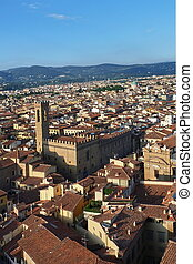 Aerial view of the center of Florence