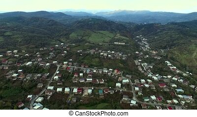 aerial view of the central part of Kutaisi