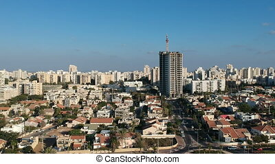 """Aerial view of the city Ashdod, Israel"""