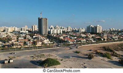 Aerial view of the city Ashdod