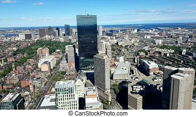 Aerial view of the City of Boston