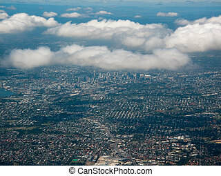 Aerial View of the City of Brisbane, Australia