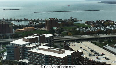 Aerial view of the city of Buffalo