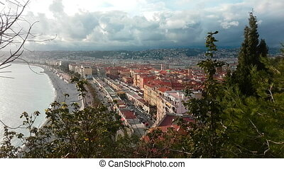 Aerial View of The City of Nice French Riviera - Aerial View...