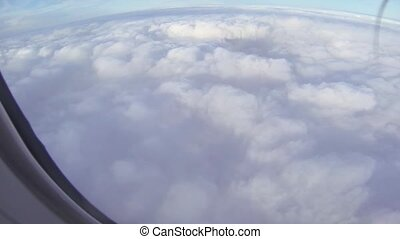 Aerial view of the clouds