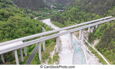 Aerial view of the Concrete Highway Viaduct on Concrete...