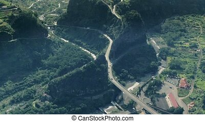 Aerial View of the Countryside in Mountains - Aerial View of...