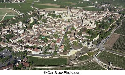 Aerial view of the entire Saint Emi - view of the village...