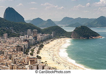 Aerial View of the Famous Copacabana Beach