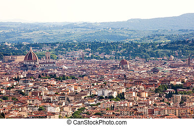 Aerial view of the Florence, Italy