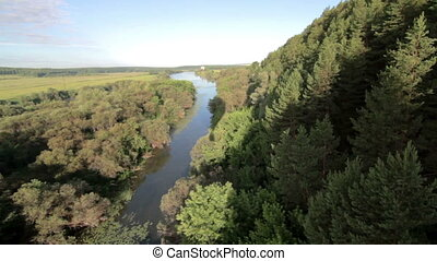 Aerial view of the forest from Balloon - Balloon flight over...