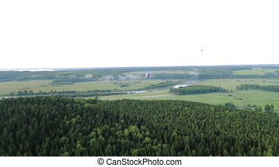 Aerial view of the forest Russia