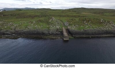 Aerial view of the forgotten pier between Ardfern and...