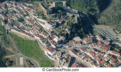 Aerial View of the Fortified Town