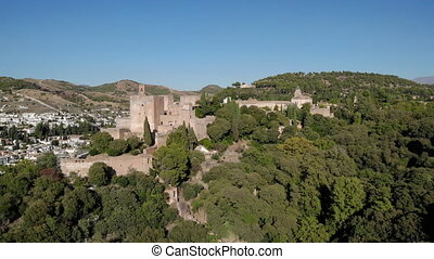 Aerial View Of The Fortress Alhambra In Granada Spain - ...