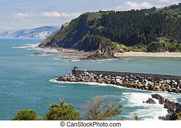 Basque Coast - Aerial view of the great Basque Coast.
