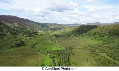 Aerial view of the hills by Glenties in Donegal - Ireland..