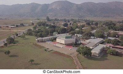 Aerial view of The Houses of Parliament in Lobamba, Eswatini...