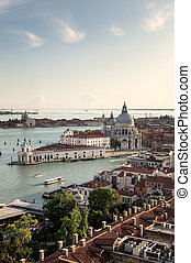 Aerial View of the Lagoon in Venice