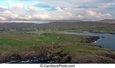 Aerial view of the landscape at Glencolumbkille in County...