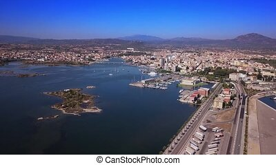 aerial view of the Livorno Italy
