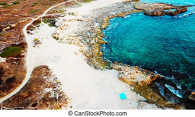 Aerial view of the mediterranean sea.