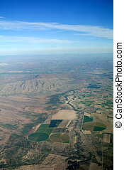 aerial view of the Mexican landscape
