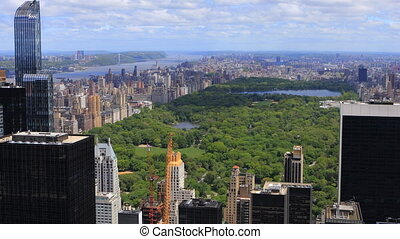 Aerial view of the Midtown New York and Central Park