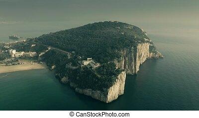 Aerial view of the Montagna Spaccata or Broken Mountain, a...