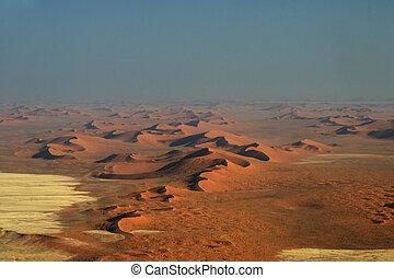 Aerial view of the Namib Desert