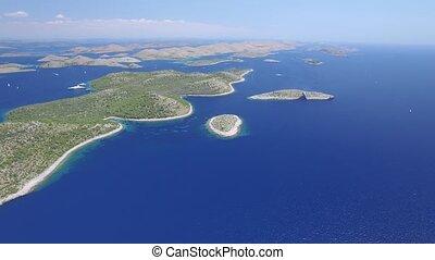 aerial view of the National park Kornati, Kornati...