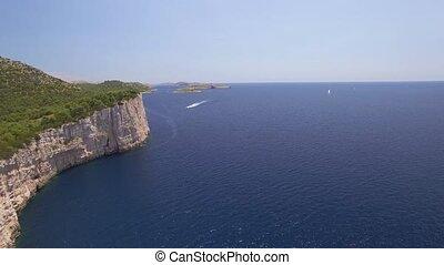 aerial view of the National park Kornati, Kornati archipelago.