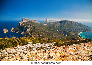 the nothern region of Mallorca - Cap de Formentor