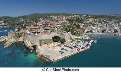 Aerial view of the old city of Ulcinj - the southernmost...