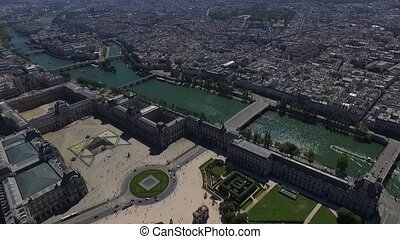 aerial view of the paris