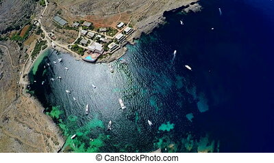 Aerial view of the picturesque sea coast. Malta - Aerial...