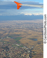 aerial view of the Po valley