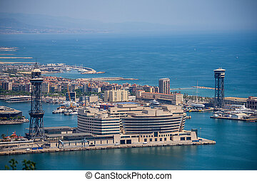 Aerial View of the Port of Barcelona - Spain