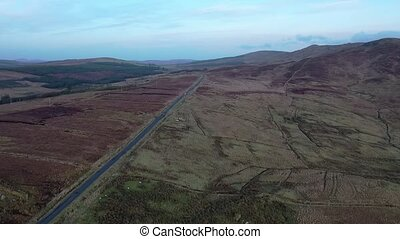 Aerial view of the R253 between Ballybofey and Glenties in Donegal - Ireland.