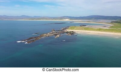 Aerial view of the reef by Carrickfad at Narin Beach by ...