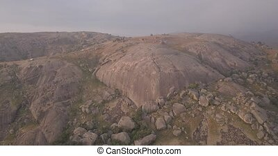 Aerial view of the second-largest monolith in the world ...
