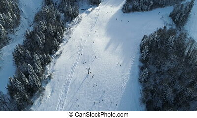 Aerial view of the ski resort