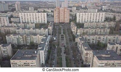 Aerial view of the sleeping area in Kiev