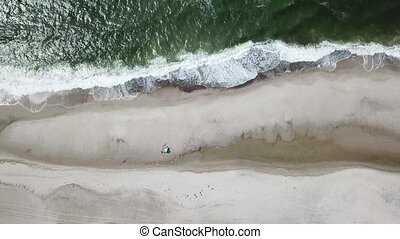 Aerial view of the Sondervig Beach in Denmark - Europe