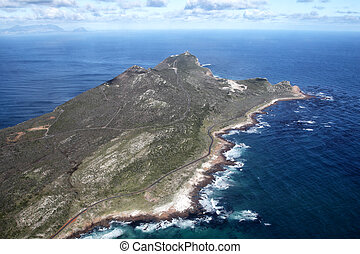 Cape of Good Hope and Cape Point - Aerial view of the...