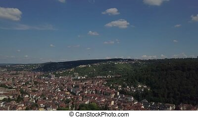Aerial view of the southern parts of Stuttgart - Aerial view...