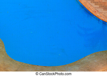 Aerial view of the swimming pool with clear water